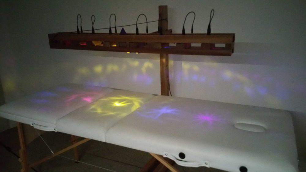 Ciel de cristal lit de cristal chromotherapie cristalline